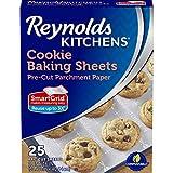 Cookie Baking Sheets Non-Stick Parchment Paper, 25 Sheets (Value Pack)