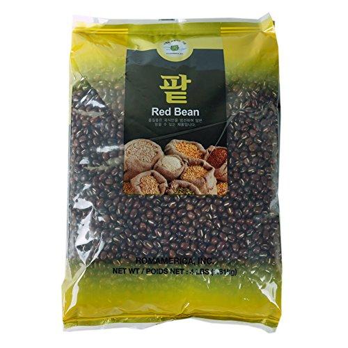 ROM AMERICA Red Adzuki Beans Red beans [4 Pound] 팥 by ROM AMERICA