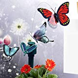 mobile 1 v twin - Angelwing Butterfly Solar Powered Vibration Dancing Flying Fluttering Stake Garden Decoration