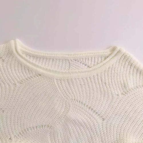KCatsy Womens Sweater Jumper Knitted Top Plus Size Oversize Hollow Batwing Lantern Loose Long Sleeve Knitwear
