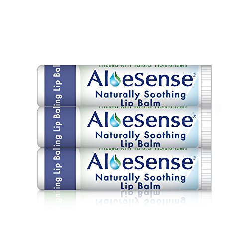 AloeSense Naturally Soothing Lip Balm w/ SPF 30, Medicated, 0.15 oz (3 Count) (Moisture Stick E Plus Vitamin)