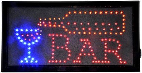 FlashingBoards pizarrón LED animados luz tienda negocios Barra de neón signos taza y botella