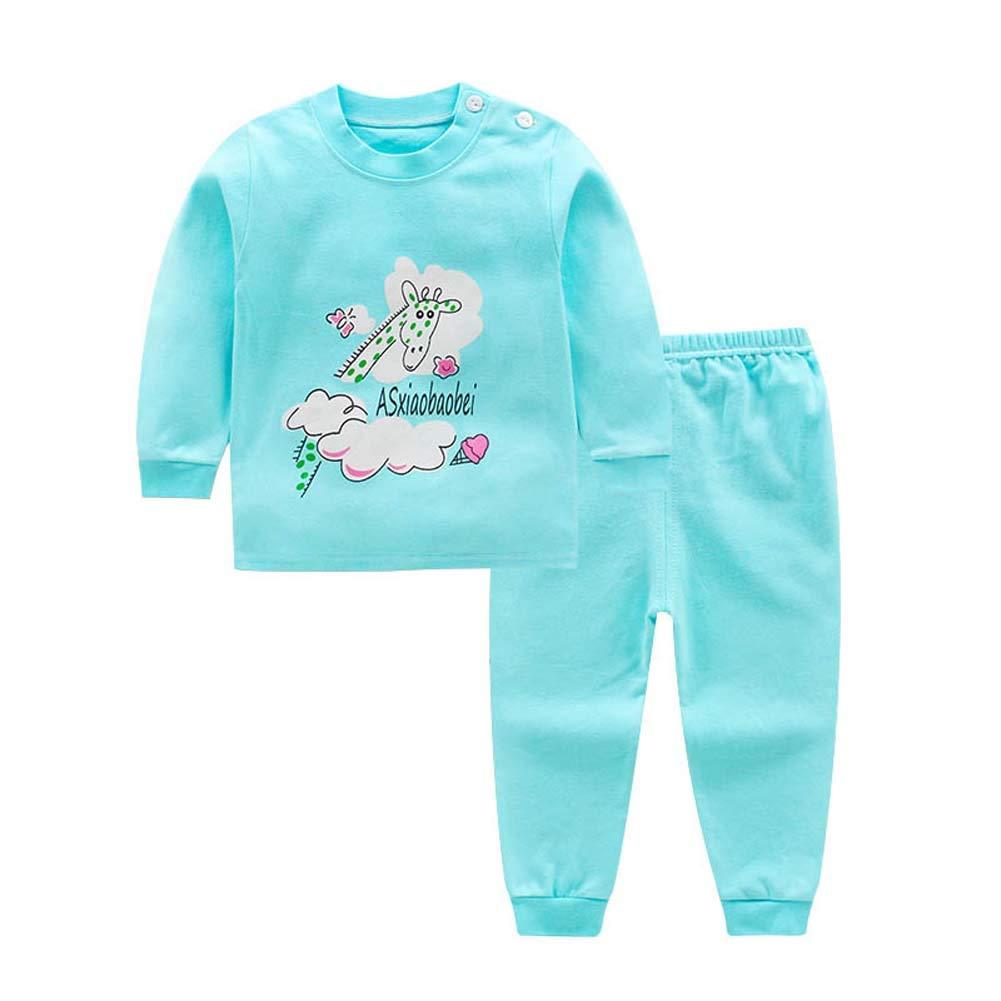 Urmagic Ensemble de Pyjama bébé, 2PCS Bébé Garçon Fille Coton Modèle de Dessin Animé Tops T-Shirt à Manches Longues+Pantalon Petits Enfants Vêtements de Nuit