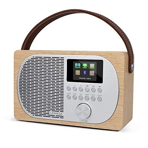 LEMEGA M2P compacte internetradio met bluetooth, DAB+/FM-digitale radio, bluetooth, WLAN, hoofdtelefoonuitgang, wekker…