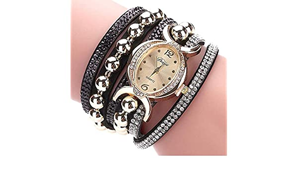 Amazon.com: Windoson Latest Rhinestone Bracelet Watch Lady Watches Female Watches Wrist Watches for Women (Black): Electronics