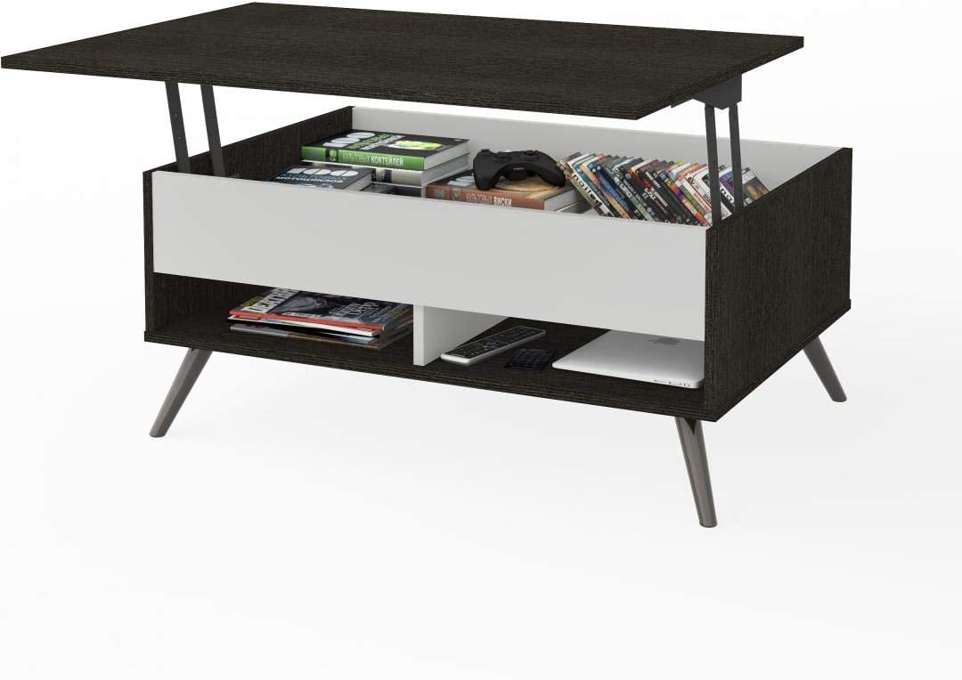 37 Lift Top Coffee Table With Metal Legs Krom By Bestar Amazon Ca Home Kitchen