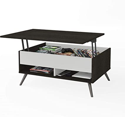 """685f74dfbc6 Amazon.com  Bestar 37"""" Lift-Top Coffee Table with Metal Legs  Kitchen    Dining"""