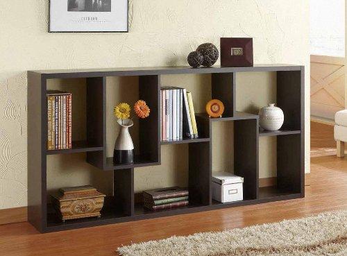 Amazon.com: Furniture of America Oasis Open Back Bookcase, Walnut: Kitchen  u0026 Dining