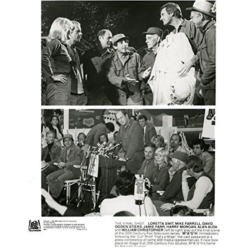 Photo 1972 B&w - MASH (TV Series 1972 - 1983) 8 inch by 10 inch PHOTOGRAPH B&W Pics 2 Images from Final Episode kn