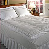 Blue Ridge Home Fashion Luxury 5'' Down Pillowtop Featherbed, Queen, White