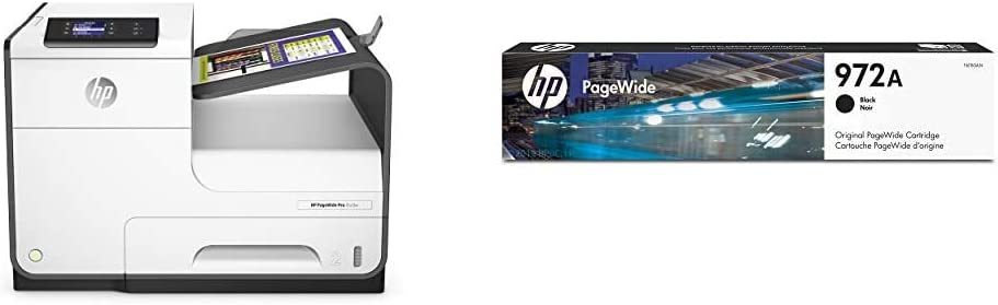 HP PageWide Pro 452DW Color Business Printer, Wireless & 2-Sided Duplex Printing (D3Q16A) with Standard Yield Black Ink Cartridge
