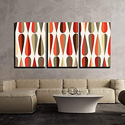 Retro Style Seamless Pattern - Canvas Art Wall Art - 16