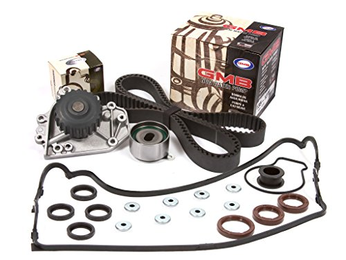 Evergreen TBK227VC2 Fits 96-00 Honda Civic Si Del Sol B16A2 Timing Belt Kit Valve Cover Gasket GMB Water Pump