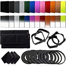 XCSOURCE 24pcs Full ND2/ND4/ND8/ND16 + Graduated G.ND2/G.ND4/G.ND8 Filters + All Colors Full & Graduated Filters + 9 PCS Adapter Ring£¨49mm,52mm,55mm,58mm,62mm,67mm,72mm,77mm,82mm£© + 2 PCS Filter Holder + 2 PCS Lens Hood +3 PCS Cleaning Cloth for Cokin P Series LF141