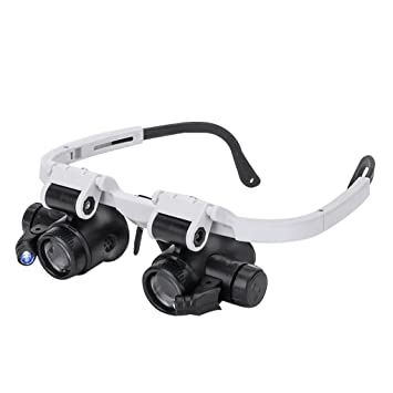 a3ddcde7966 Magnifying Glasses 8X 15X 23X Magnifier LED Headband Glass Eye Magnifying  Repair Tool Watchmaking Coin Stamp