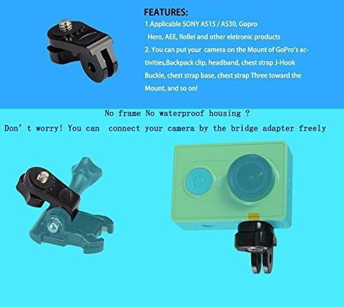 2 pcs Bridge Adapter for Xiaoyi Sport Camera for Sony Action Cam HDR-AS20V AS30V AS100V AS30V AZ1 AS200V AS300R FD-X3000R