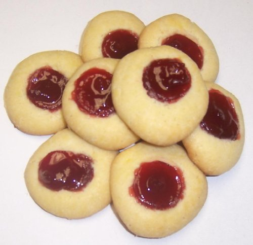Scott's Cakes Raspberry Butter Cookies in a 1 Pound Clear Cello Bag (Butter Boxed Cookies)