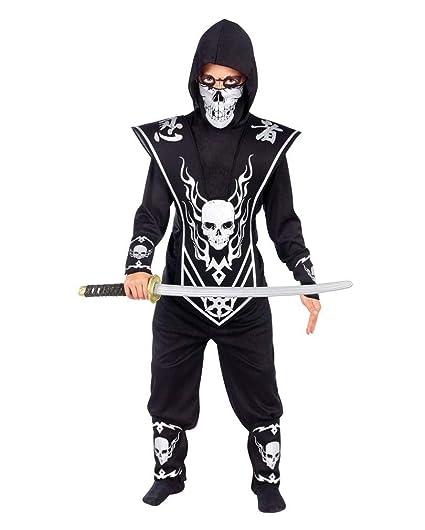 Señor Calavera Disfraz Ninja Niño: Amazon.es: Juguetes y juegos