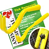 Tick Remover set BY Animal Hospital, Pack of 2 (one big,one small) the Best Most Effective Tick Removers on the Market,Remove Ticks from Dogs,Human,Horse or any other Animal,Safe Tick Removal Hooks
