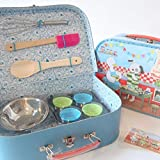 Le Grande Famille Moulin Roty Je Fais Des Gateaux I Am Baking Pastries! Child Sized Cooking Tools Toy Set in Carry Suitcase