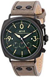 "AVI-8 Men's AV-4022-05 ""Lancaster Bomber"" Stainless Steel Watch with Brown Leather Band"