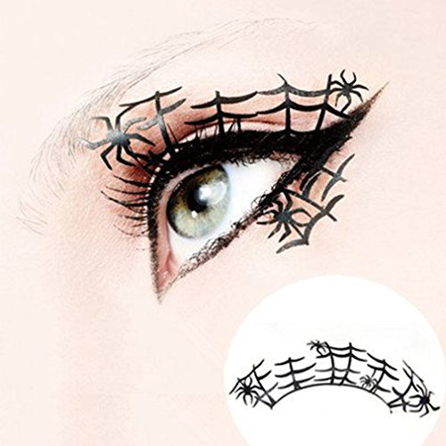 Yesido. Exaggerated False Eyelashes, Halloween Stage Exaggerated Spider Web False Eyelashes Makeup Party Fashion Cosplay False Lashes (Halloween Makeup Web)