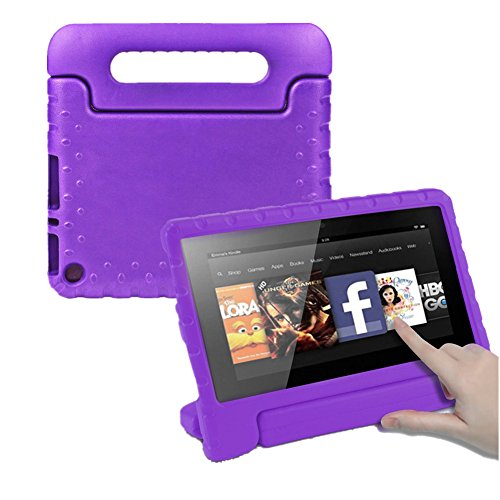 F i r e 7 Case, Cabesty Light Weight Kids Friendly Shock Proof Convertible Handle Stand Cover for A m a z o n F i r e 7 inch Display Tablet