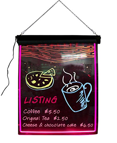 ThunderCloud Neon Sign LED Message Menu Sign Writing Board,32