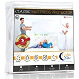 Twin Size Mattress Pad Protector - Waterproof & Hypoallergenic Cover, Vinyl Free Topper - Machine Washable - By CalmniteTM