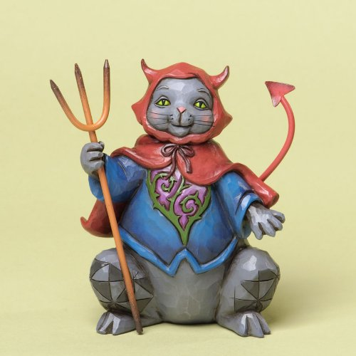 Jim Shore for Enesco Heartwood Creek Pint Sized Halloween Cat Figurine, 4.75-Inch -