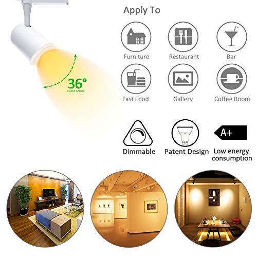 Bombilla LED GU10 Dimmable de 7W, Regulable,Intensidad Regulable Azhien, Luz Blanca Cálida, 2700 K, Foco, 50 Watt, equivalente a Lámpara Halógena, 560lm, ...