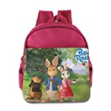 Kids Peter Rabbit School Backpack Funny Baby Boys Girls School Bag Pink