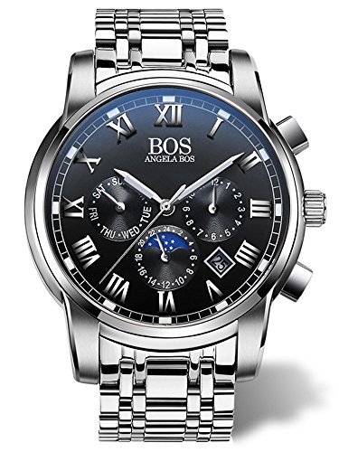 Chronograph Stainless Steel Band - 6
