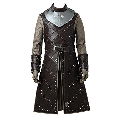 Jon Snow Costume (CosplayDiy Men's Cosplay Suit for Game of Thrones VII Jon Snow Cosplay Costume)