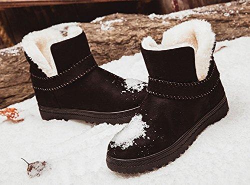 Nero Stivaletti Alto Suede 35 pelliccia Boot on 2 Spessa In Faux Cotone Donna Fur Ankle 1 Scegli Inverno Piattaforma Caldo Slip Scarpe Vino rosso Nero Beige 44 Grigio Taglia fIOfx