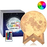 Mind-glowing 3D Moon Lamp - 16 LED Colors, Dimmable,...