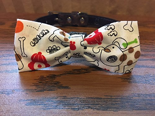 Bones & Things-Dog Bow Tie by Creations by Glo