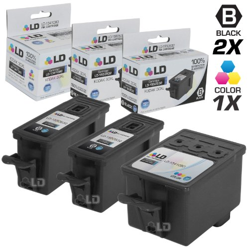 Compatible Replacement for Kodak 30XL Set of 3 HY Ink Cartri
