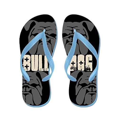Cafepress Bullies (nero / Grigio) - Infradito, Divertenti Sandali Infradito, Sandali Da Spiaggia Blu Caraibico