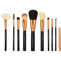 STELLAIRE CHERN 10 Pieces Professional Makeup Brush Set Cosmetic Brushes Kit with Bag - Black