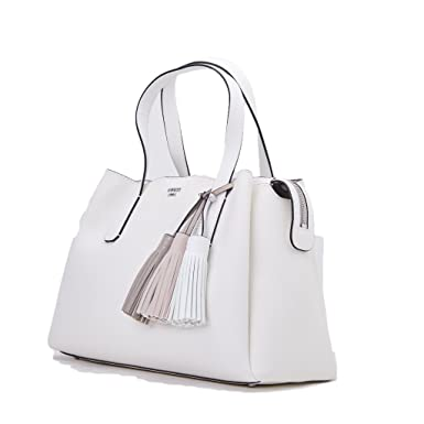 Guess Trudy Girlfriend Satchel Bag White in bianco | fashionette