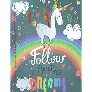 Cute Rainbow Unicorn 2018-2019 18 Month Academic Year Planner: with Inspirational Quotes- July 2018 To December 2019 Weekly and Monthly Large 8.5×11 … Motivational Quotes Planners) (Volume 8)