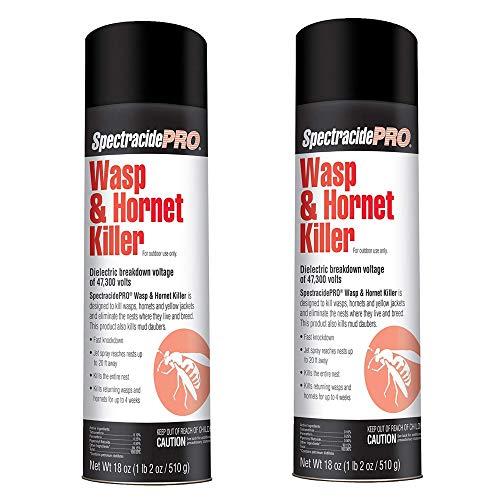- SpectracidePRO Wasp & Hornet Killer (Aerosol) (HG-30110) (18 oz) -2 Pack