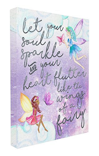 Stupell Home Décor Let Your Soul Sparkle Fairies Painting Stretched Canvas Wall Art, 16 x 1.5 x 20, Proudly Made in USA (Hanging Sparkle Room Decor)