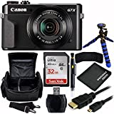 Canon PowerShot G7 X Mark II Digital Camera Bundle with Carrying Case and Accessory Kit (8 Items)