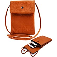 Women Cute Mini Crossbody Bag/Cellphone Purse/Shoulder Bag/Cellphone Pouch, WITERY Soft Leather 4 Bags Small Wallet Purse with Adjustable Shoulder Strap Brown