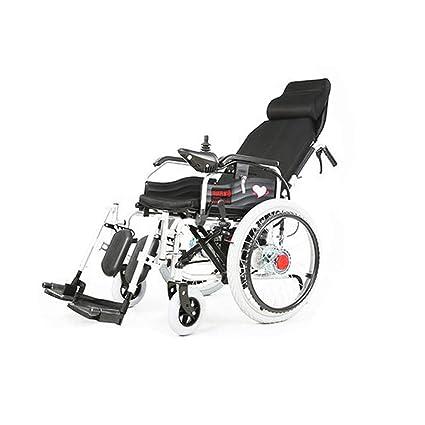 HT BEI Silla de Ruedas eléctrica, sillas de Ruedas Plegables discapacitadas para Ancianos, Coche