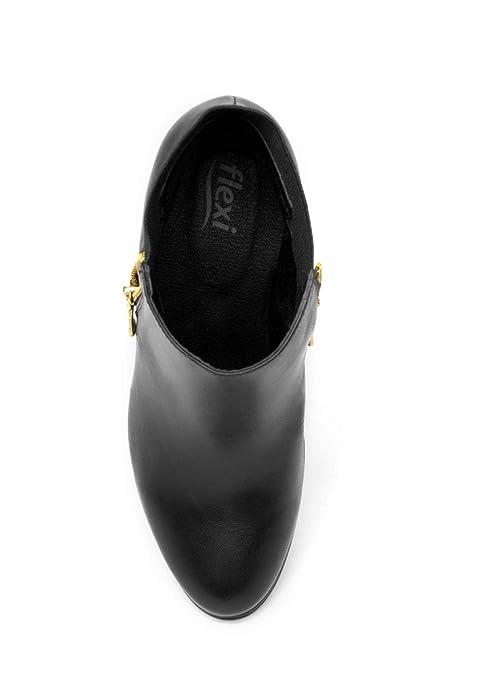 fc5d2dd996e82 Flexi Bota Negra Tacon con Cierre Bota para Mujer  Amazon.com.mx  Ropa,  Zapatos y Accesorios