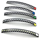 McIgIcM smd led kit,100pcs 1206 SMD LED light Package Red White Green Blue Yellow,smd led 1206 assortment