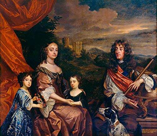 Sir Peter Lely James II When Duke of York with Anne Hyde, Princess Mary, Later Mary II and Princess Anne 1685 Royal Collection Trust UK - Windsor - 30